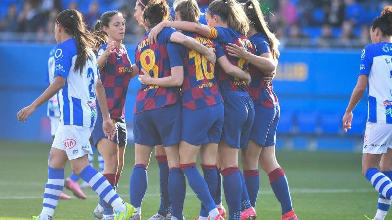 El Barcelona destroza al Sporting de Huelva