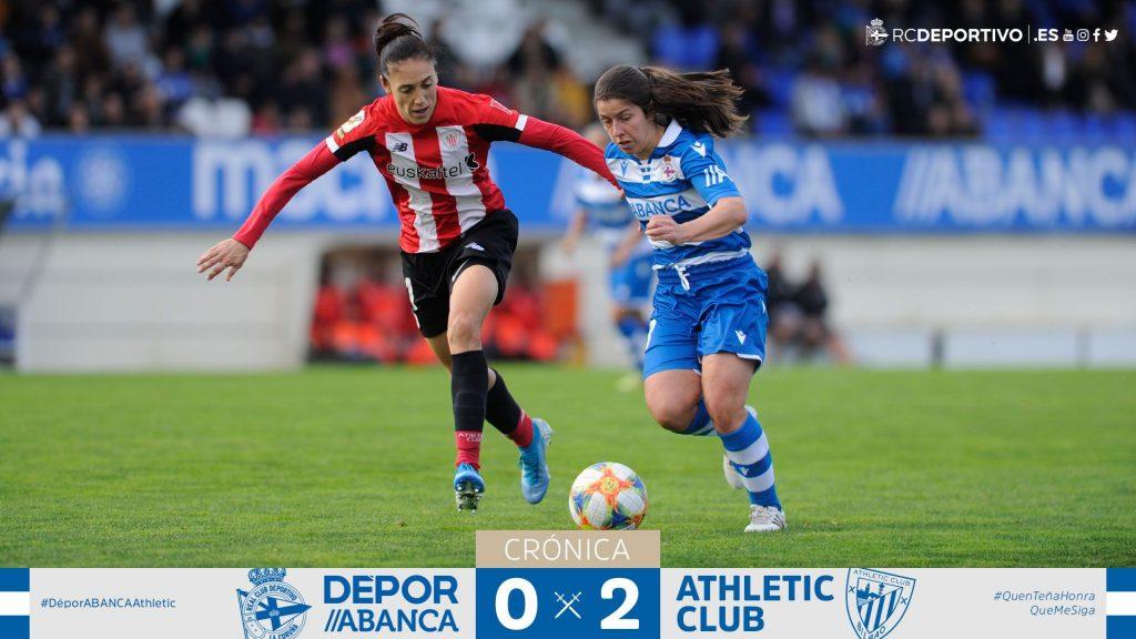 El Deportivo entrega su fortaleza al Athletic