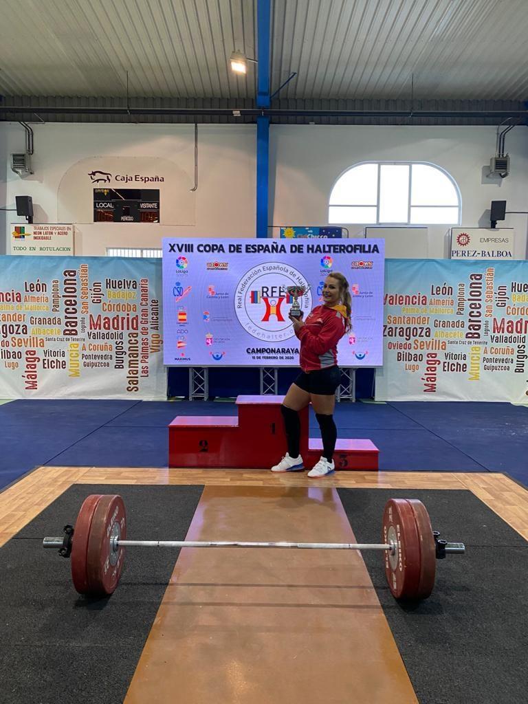 Lydia Valentín gana la Copa de España de halterofilia