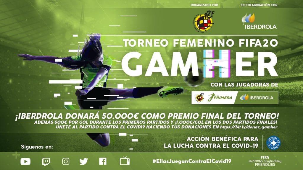 Gran éxito del GamHer, el primer torneo de fútbol femenino online