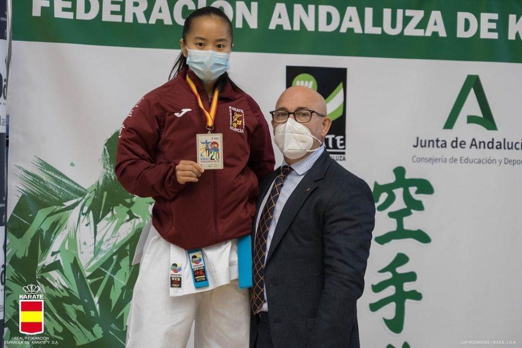 La murciana Irene Yao se lleva la plata nacional de katas