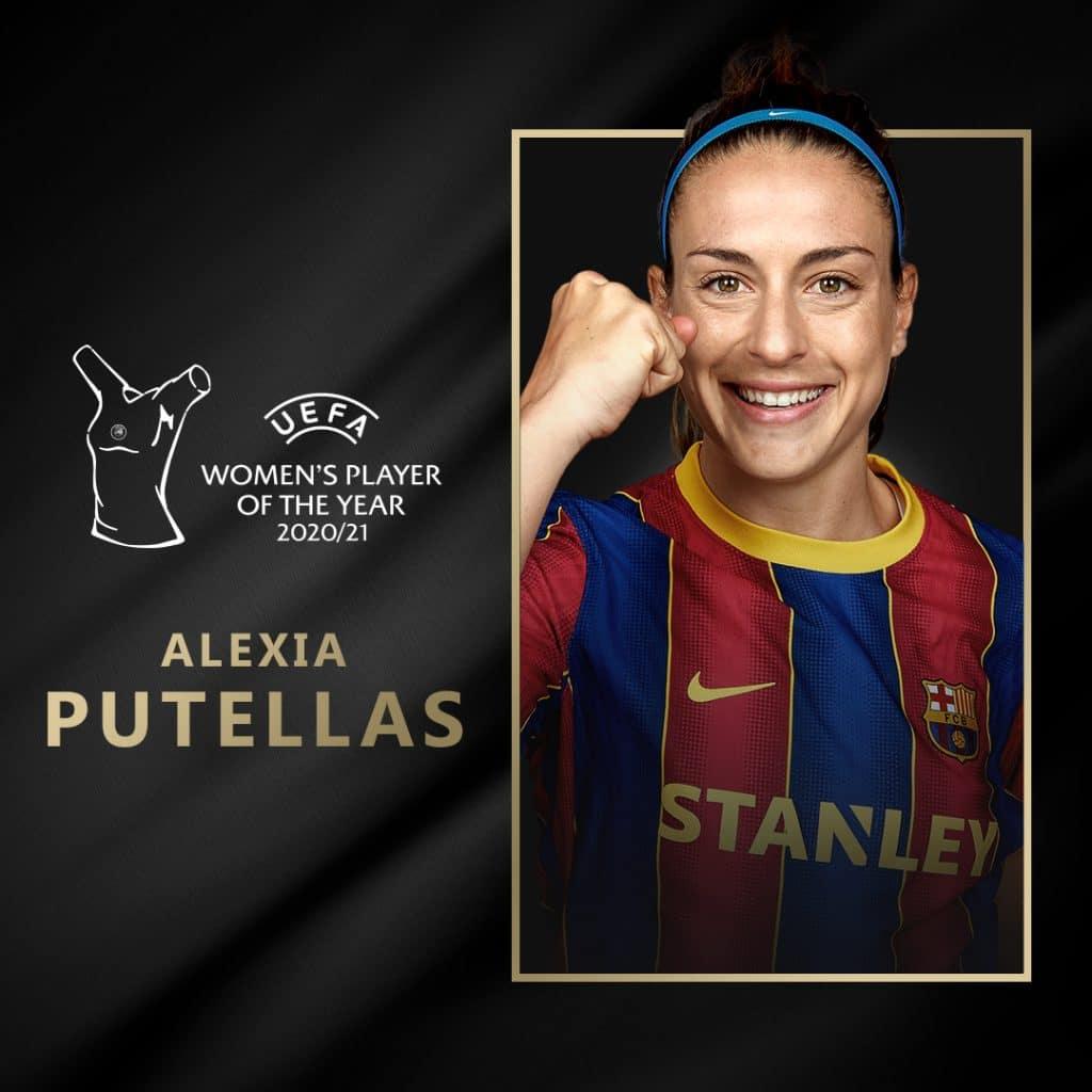 Alexia Putellas es elegida jugadora del año de Europa