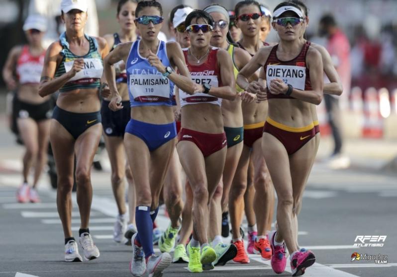 María Pérez, cuarta en los 20 kilómetros marcha olímpica