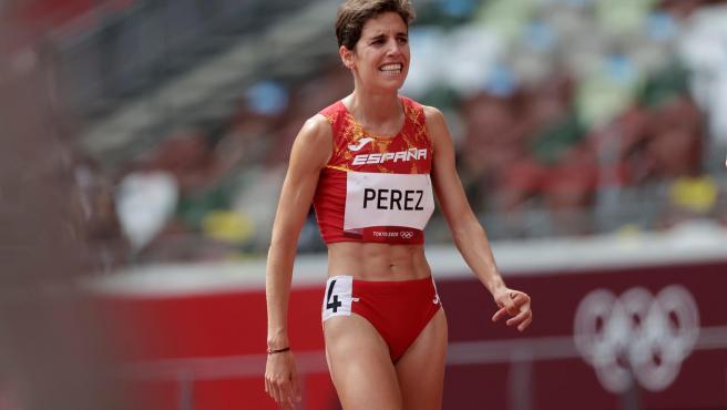 Marta Pérez en la prueba de 1500 metros