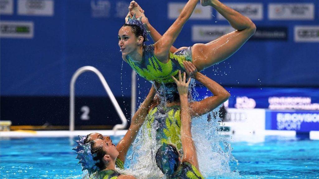 Las sirenas quedan séptimas en la rutina libre de natación sincronizada