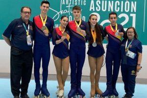 España triunfa en el Mundial de Patinaje Artístico de Paraguay